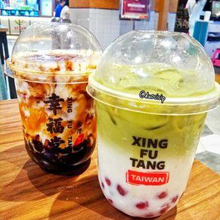 Foto 3 - Makanan(Matcha Boba Milk & Brown Sugar Boba Milk) di Xing Fu Tang oleh felita [@duocicip]