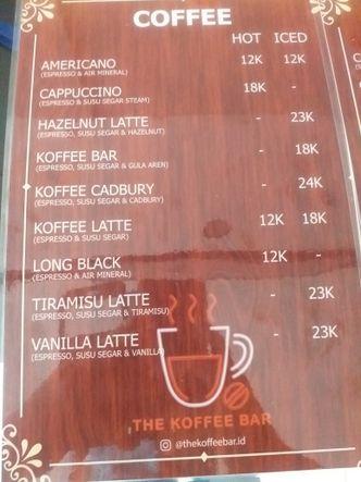Foto Menu di The Koffee Bar