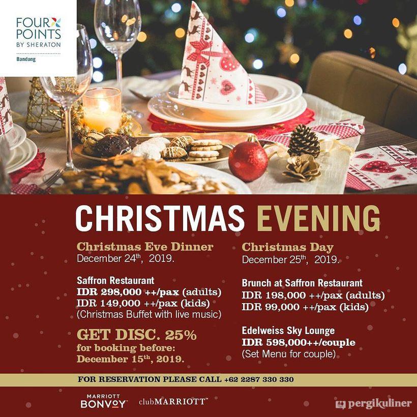 Christmas Buffet Promo Dan Diskon Di Saffron Restaurant Hotel Four Points By Sheraton Dago Bawah Bandung