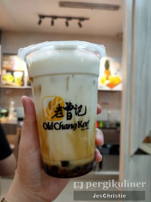 Foto 2 - Makanan(Brown Sugar Milk Tea w/ Bubble) di Old Chang Kee oleh JC Wen