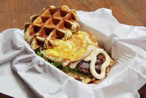 Foto Zucker Waffle