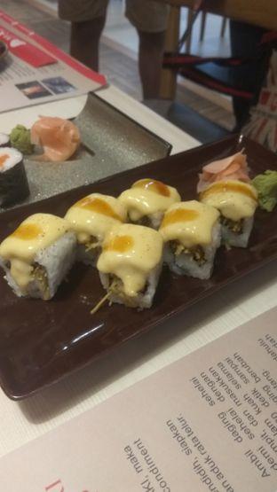 Foto 1 - Makanan(Aburi cheese crunchy roll (IDR 34.5k) ) di Washoku Sato oleh Renodaneswara @caesarinodswr