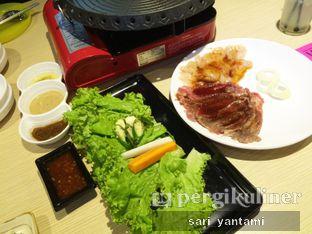 Foto 1 - Makanan(Chadolbaegi & Chicken BBQ) di Chagiya Korean Suki & BBQ oleh Rizki Yantami Arumsari