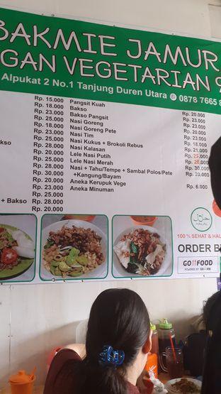 Foto 2 - Menu(Menu) di Bakmie Jamur Vegan Vegetarian 99 oleh Yulia