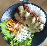 Foto Grill Chicken Rice di Honey Beans Coffee & Roastery