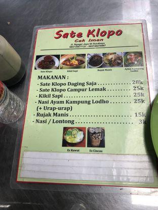 Foto review Sate Klopo Cak Iman oleh Christian | IG : @gila.kuliner13 1