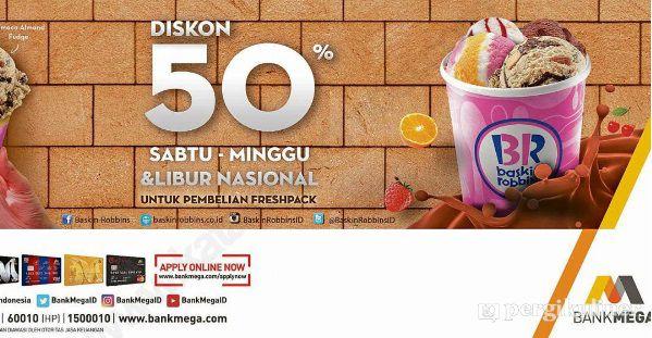 50 Kartu Kredit Bank Mega Promo Dan Diskon Di Baskin Robbins Puri