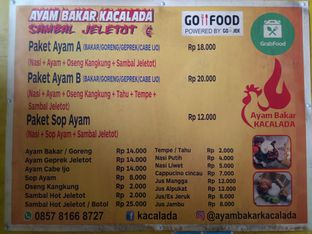 Foto 5 - Menu di Ayam Bakar Kacalada Sambal Hot Jeletot oleh Kuliner Addict Bandung