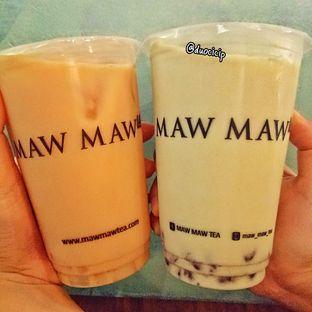 Foto 1 - Makanan(Milk Tea dan Rec Bean Matcha Milk) di Maw Maw Tea oleh felita [@duocicip]