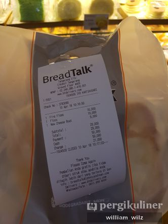 Foto Menu di BreadTalk