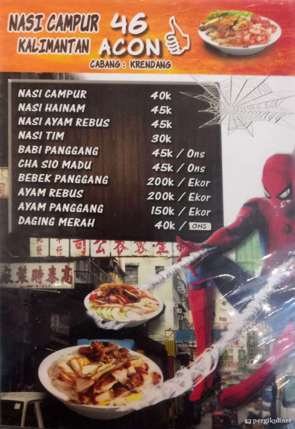 Selalu Diperbarui Menu Nasi Campur Kalimantan 46 Acon Pluit Madu Merah 1