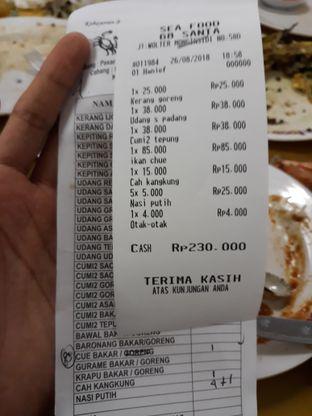 Foto 1 - Menu(bill) di Seafood Santa 68 oleh Agnes Lievia