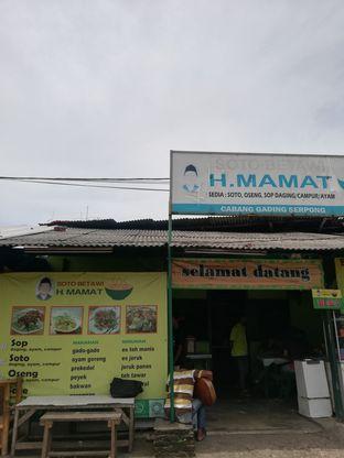 Foto 2 - Eksterior di Soto Betawi H. Mamat oleh @makansamaoki