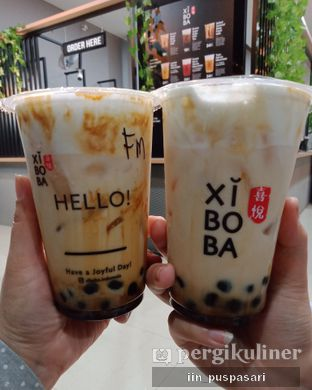Foto 1 - Makanan(Brown Sugar Boba Fresh Milk & Salted Caramel Boba Fresh Milk) di Xi Bo Ba oleh Iin Puspasari