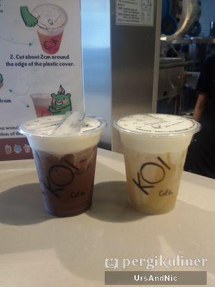 Foto 4 - Makanan(Ovaltine Macchiato dan Green tea macchiato) di KOI Cafe oleh UrsAndNic