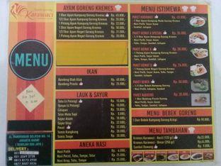 Foto 2 - Menu(Daftar menu) di Ayam Goreng Karawaci oleh Alfa