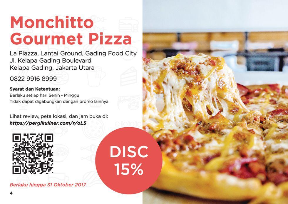 15% - MEMO dari PergiKuliner di Monchitto Gourmet Pizza, Kelapa Gading