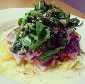 Foto Cream sauce style with smoked beef,spinach and rucola 69k di Popolamama