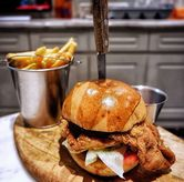 Foto Miso Fried Chicken Burger di Nosh Kitchen
