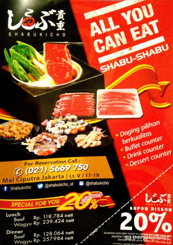 All You Can Eat Harga Normal Promo Dan Diskon Di Shabukicho Grogol