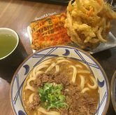 Foto Beef Curry Udon dan Baby Bean Kakiage di Marugame Udon