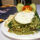 Foto Nasi Goreng Bakar Kikil di Chop Buntut Cak Yo