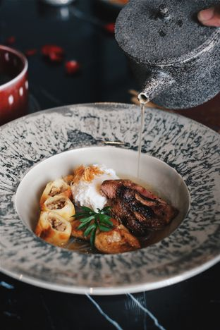Foto 8 - Makanan(Foie Gras Duck Timlo) di 1945 Restaurant - Fairmont Jakarta oleh Verdi Danutirto