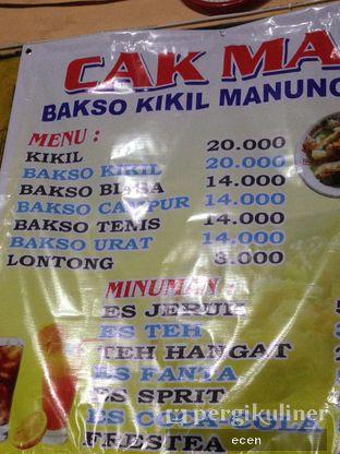Foto 6 - Menu(menu makan ) di Bakso Kikil Sapi Asli Manunggal Cak Mat oleh @Ecen28