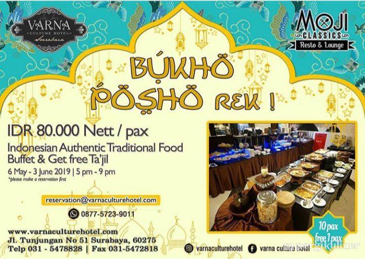 Buffet Buka Puasa 2019 Promo Dan Diskon Di Moji Classics Resto Lounge Varna Culture Hotel Genteng Surabaya
