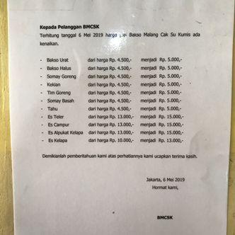 Foto Menu di Bakso Bakwan Malang Cak Su Kumis