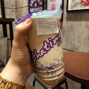 Foto 2 - Makanan(Vanilla Milk Tea + Crystal Coffee Jelly) di Chatime oleh Afifah Romadhiani