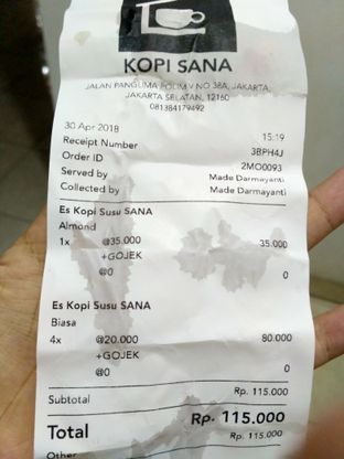 Foto review Kopi SANA oleh Stella Griensiria 2
