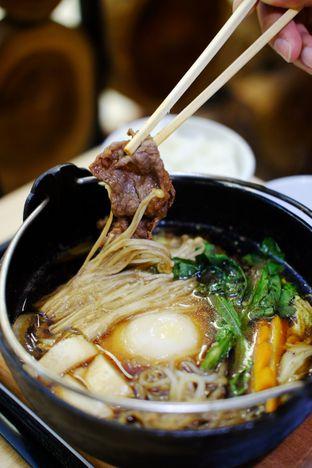 Foto 2 - Makanan(Australia Beef Sukiyaki Set) di Hanei Sushi oleh Cindy Y
