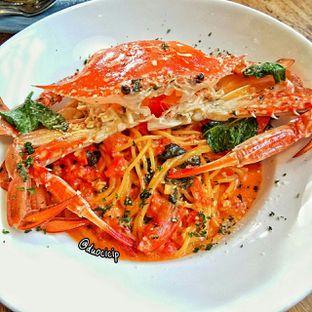 Foto 4 - Makanan(Tomato Cream Crab Pasta) di Kamakura Japanese Cafe oleh felita [@duocicip]
