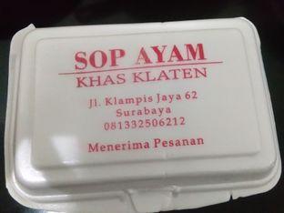 Foto review Sop Ayam Khas Klaten oleh Saskhia  1