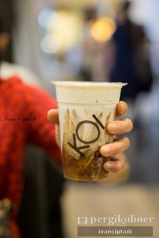 Foto - Makanan(Black Tea Macchiato) di KOI Cafe oleh Ivan Ciptadi @spiceupyourpalette