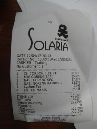 Foto review Solaria oleh Nurul Fitriya 5
