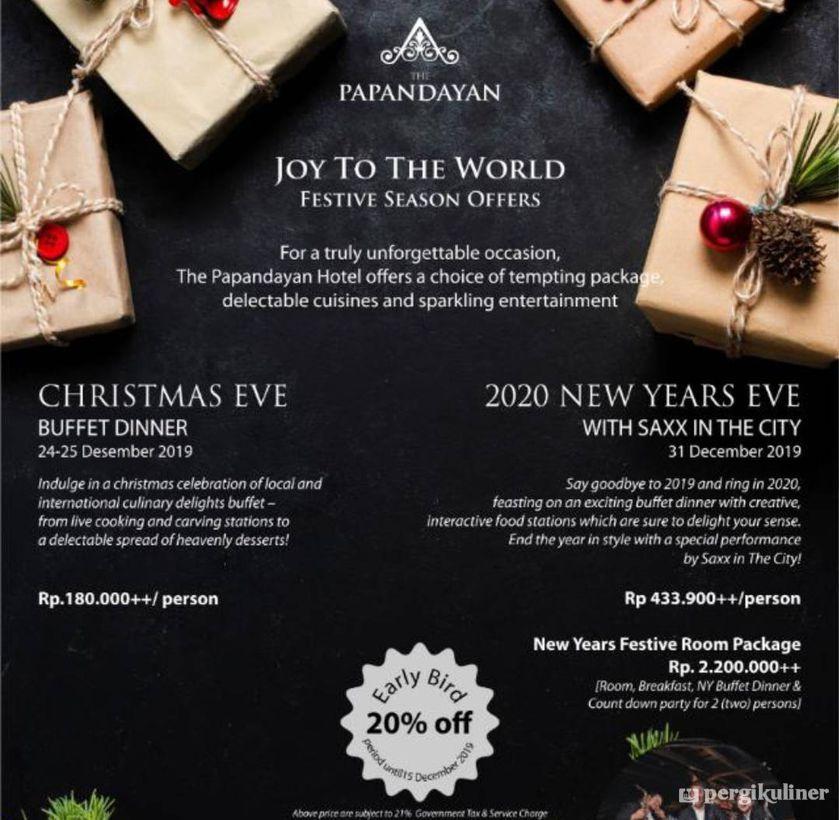 New Year S Eve Buffet Promo Dan Diskon Di Pago The Papandayan Hotel Gatot Subroto Bandung