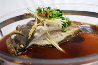Foto 1 - Makanan(Ikan Kerapu Macan Steam ala Hongkong) di Saung Greenville (Saung Grenvil) oleh Chrisilya Thoeng
