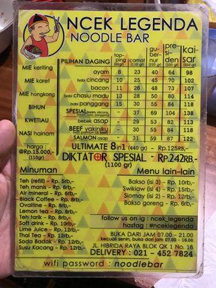Foto 4 - Menu di Ncek Legenda Noodle Bar oleh FOODIARYPAOPAO