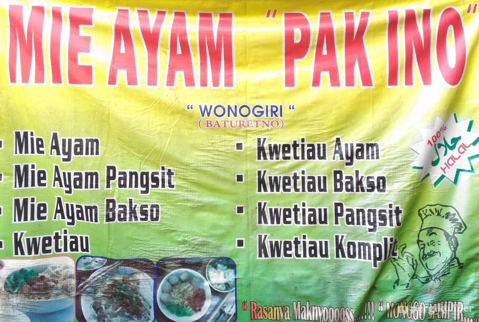 Keren Banner Mie Ayam Bakso - Erlie Decor