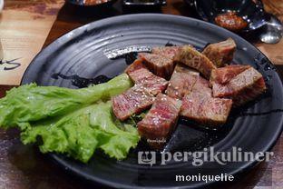 Foto 4 - Makanan(Wagyu Samgaksal) di Sadang Korean BBQ oleh Monique @mooniquelie @foodinsnap