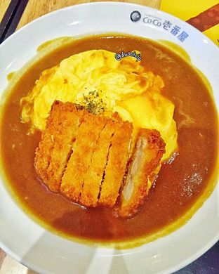 Foto 5 - Makanan(Chicken cutlet omelette curry) di Coco Ichibanya Kitchen oleh duocicip