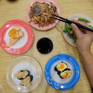 Foto 3 - Makanan(Salmon Mayo, Egg Mayo, Edamamme, Salmon Skin Piri Piri, Spicy Salmon Aburi) di Sushi King oleh Yummyfoodsid