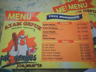 Foto 4 - Menu di Ayam Gepuk Pak Gembus oleh saskia jihan