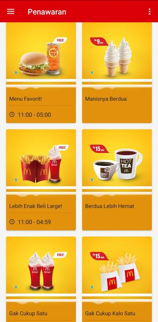 Foto 5 - Menu(Beberapa Penawaran app McD) di McDonald's oleh Kezia Kevina
