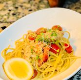 Foto spaghetti prawn di Mr. Fox