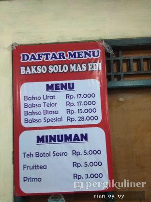 Foto review Bakso Solo Mas Edi oleh | TidakGemuk |  ig : @tidakgemuk 3