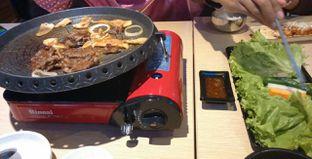 Foto 2 - Makanan(Korean BBQ with lettuce) di Chagiya Korean Suki & BBQ oleh Annti Nursanti
