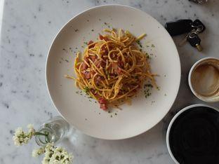 Foto 2 - Makanan(Spaghetti Aglio Olio) di Coarse & Fine Coffee oleh @stelmaris